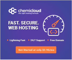 ChemiCloud hosting banner