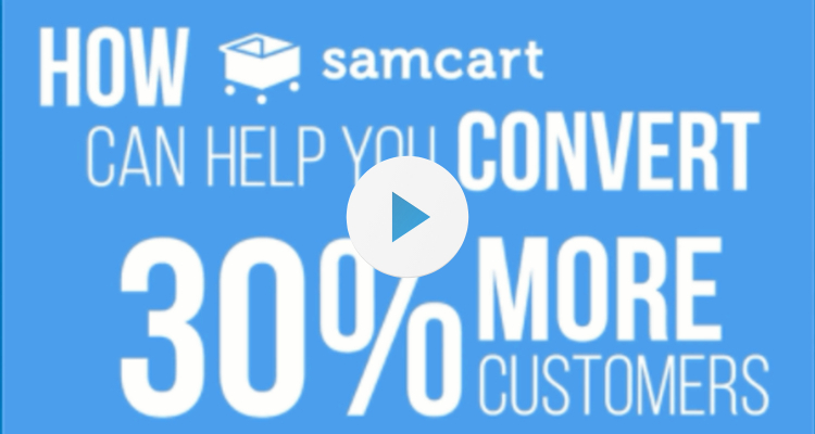Video about how SamCart helps you convert more traffic